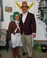 Willy Wonka & Oompa Loompa Homemade Costume