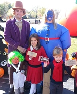 Willy Wonka & The Chocolate Factory Family Homemade Costume