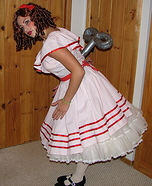 Homemade Wind Up Doll Costume