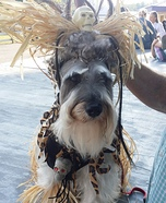 Witch Doctor Dog Homemade Costume