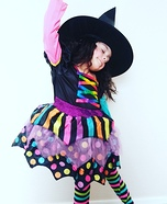 Colorful Witch Girl's Costume