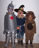 Children's book Halloween costumes - The Wizard of Oz: Tin Man, Scarecrow and Cowardly Lion