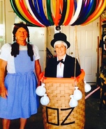 Wizard of Oz in a Hot Air Baloon & Dorothy Homemade Costume