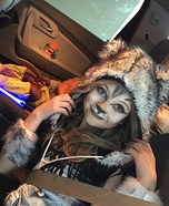 Wolf Girl Homemade Costume