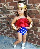 Wonder Woman Baby Girl Homemade Costume