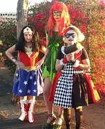 Wonder Woman, Poison Ivy and Harlequin Costume