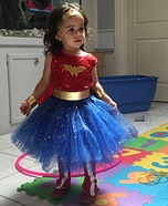 Wonder Woman Toddler Homemade Costume