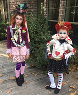 Wonderland Girls Homemade Costume