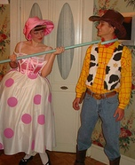 Woody and Bo-Peep Homemade Costume