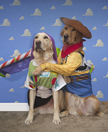 Woody & Buzz Dogs Homemade Costume