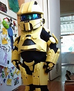 Yellow Master Chief Homemade Costume