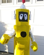 Yo Gabba Gabba Plex the Robot Homemade Costume