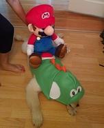 Yoshi Dog Homemade Costume