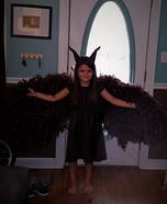 Young Maleficent Homemade Costume