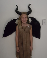 Young Maleficent Girl's Halloween Costume
