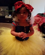 Young Snow White Homemade Costume