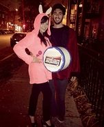 Younger Hugh Hefner and the Enginzer Bunny Couples Costume