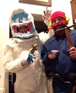 Yukon Cornelius and the Abominable Snowman Homemade Costume