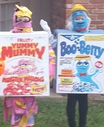 Yummy Mummy and Boo Berry Homemade Costume