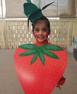 Yummy Strawberry Homemade Costume