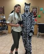 Zebra and Hunter Homemade Costume