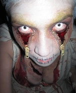 Scary zipper illusion costume ideas - Zipper Eyes Halloween Costume