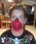 Zipper Face DIY Costume