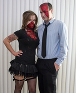 Zipper face costume ideas - Zipper Face Couples Costume