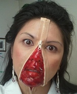 Scary costume ideas - Zipper Face Costume