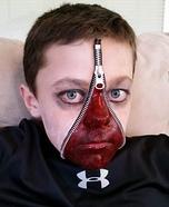 Zipper Face Boy Homemade Costume
