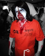 Zipper Faced Zombie Homemade Costume