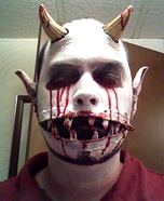 Scary zipper illusion costume ideas - Zipper Mouth Demon Halloween Costume