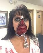 Zipper Zombie Homemade Costume