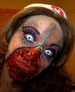 Zipper face costume ideas - Zipper Zombie Nurse Costume