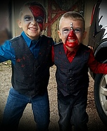 Zipperface Boys Homemade Costume