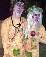 Zombie Adam & Eve Homemade Costume