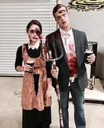 Zombie American Gothic Homemade Costume