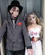 Zombie Bride and Groom Kids Costume