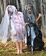 Zombie Bride and the Cemetery Bride Homemade Costume