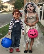 Zombie Bride & Chucky Homemade Costume