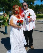 Zombie Bride & Groom Homemade Costume