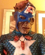 Scary Halloween costume ideas - Zombie Captain America
