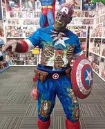 Zombie Captain America Homemade Costume