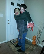 Zombie carrying split in half Zombie Homemade Costume
