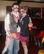 Homemade Zombie Couple Costume