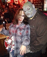 Zombie Couple with Baby Homemade Costume