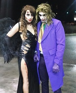 Zombie Dark Angel and the Joker Couple Costume
