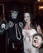 Zombie Dark Helmet and Princess Vespa Couple Costume