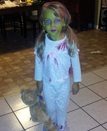 Zombie Demon Child Homemade Costume Idea