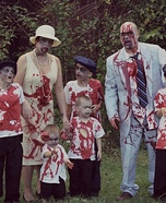 Zombie Family Homemade Costume